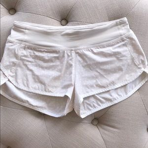 Lululemon shorts with white dots